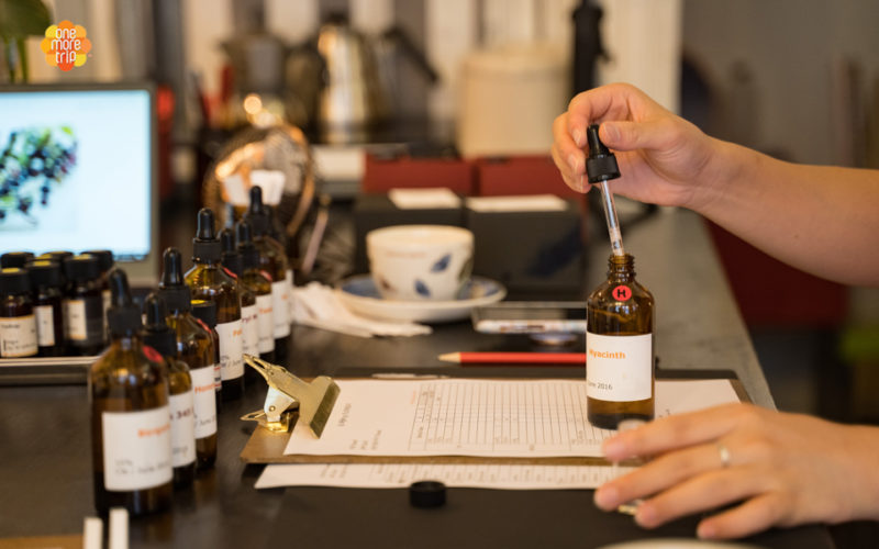 Combining scents perfume making