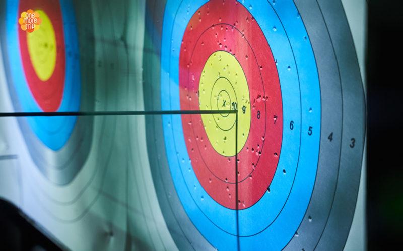 archery class arrow target