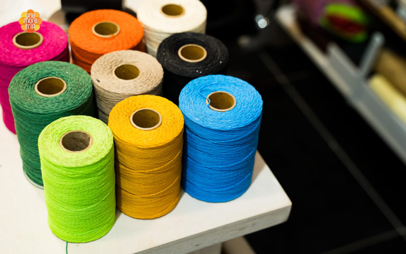 colorful threads for bag